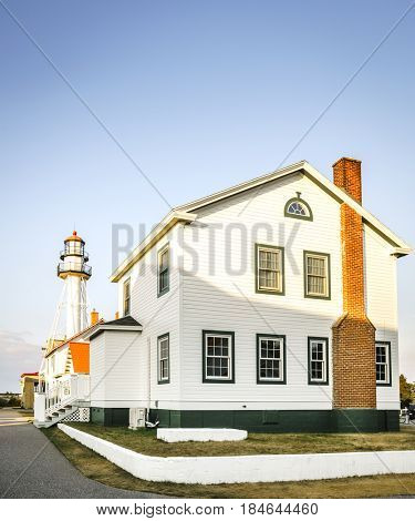 Whitefish Point Lighthouse is the oldest operating light on Lake Superior, Michigan