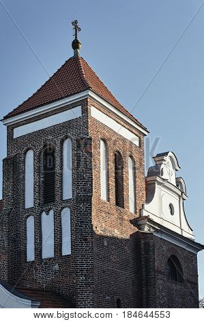Gothic belfry of Medieval church in Gniezno