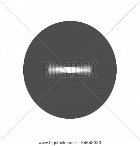 Negative symbol illustration. Minus sign. Vector. Gray icon shaked at white background.