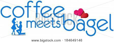 Coffee Meets Bagel artistic logo vector. Coffee Meets Bagel is an online dating and social networking app