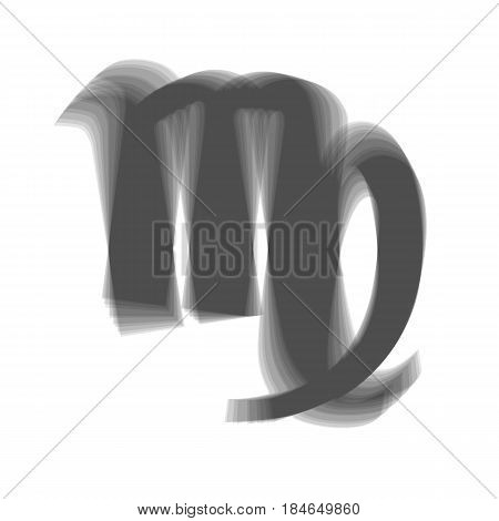 Virgo sign illustration. Vector. Gray icon shaked at white background.