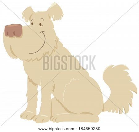Cream Shaggy Dog Cartoon