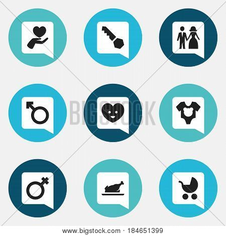 Set Of 9 Editable Folks Icons. Includes Symbols Such As Woman Sign, Bodysuit, Lock And More. Can Be Used For Web, Mobile, UI And Infographic Design.