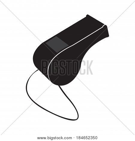 Isolated whistle on a white background, Vector illustration