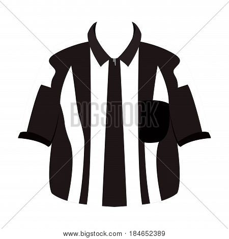 Isolated referee shirt on a white background, Vector illustration