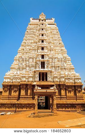 Temple of Sri Ranganathaswamy in Trichy Tamil Nadu state South India.
