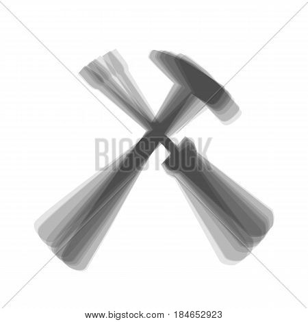 Tools sign illustration. Vector. Gray icon shaked at white background.
