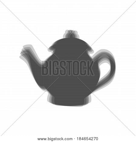 Tea maker sign. Vector. Gray icon shaked at white background.