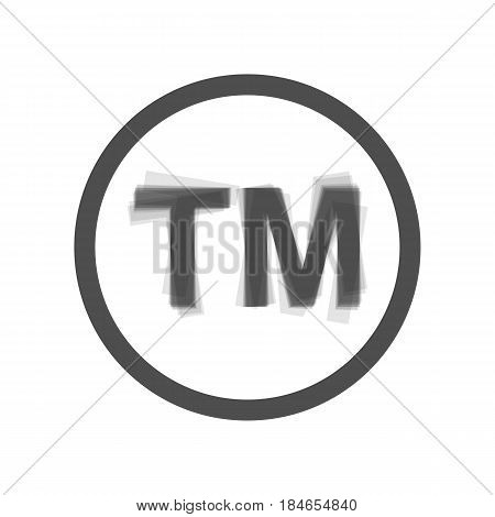 Trade mark sign. Vector. Gray icon shaked at white background.