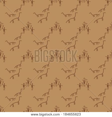 Old paper texture manuscript seamless pattern abstract beige aged vintage texture ancient blank vector illustration. Grungy canvas antique scratched retro stained paper prehistoric drawings.