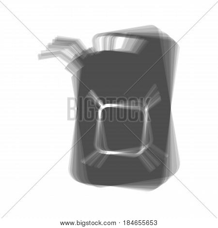Jerrycan oil sign. Jerry can oil sign. Vector. Gray icon shaked at white background.