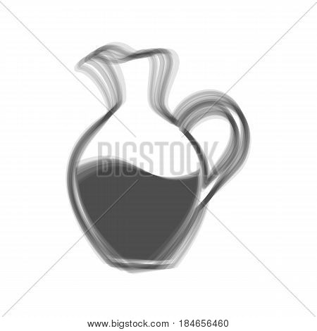 Amphora sign. Vector. Gray icon shaked at white background.