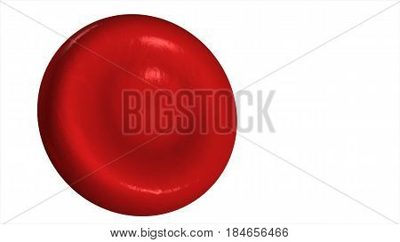 Illustration Of A Red Blood Cell Isolated On A White Background