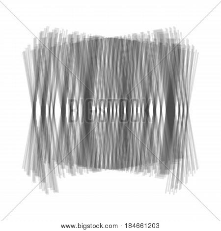 Bar code sign. Vector. Gray icon shaked at white background.