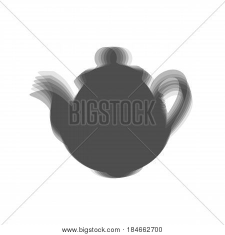 Tea maker Kitchen sign. Vector. Gray icon shaked at white background.