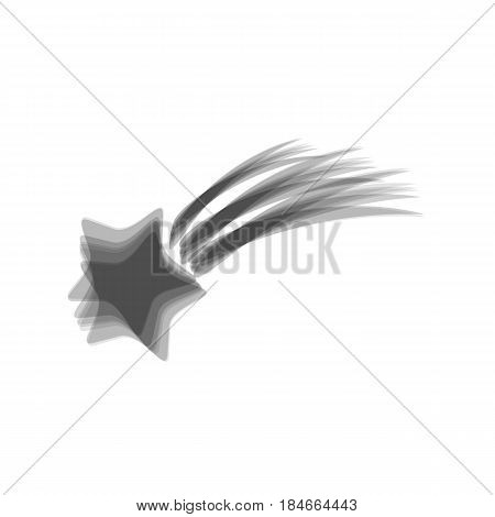 Meteor shower sign. Vector. Gray icon shaked at white background.