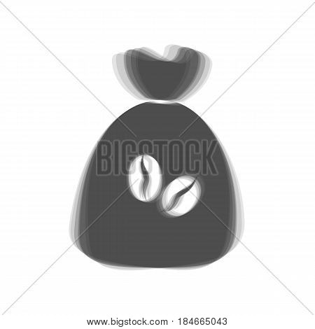 Coffee bag Icon. Coffee bag. Vector. Coffee bag Icon Button. Vector. Gray icon shaked at white background.