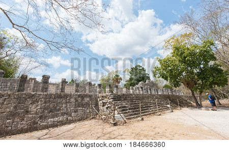 Archaeological Site of the Ancient Mayan Ruins, Chichen Itza, Yucatan, Mexico