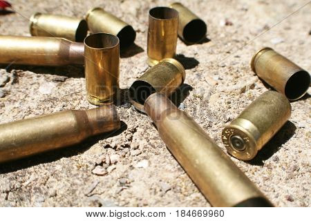 Ammo Casings On Ground During War High Quality
