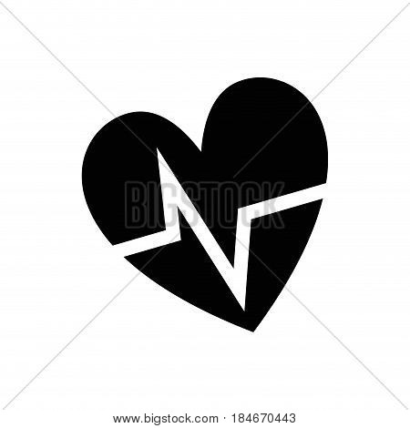 contour nice heartbeat to cardiac rhythm, vector illustration design