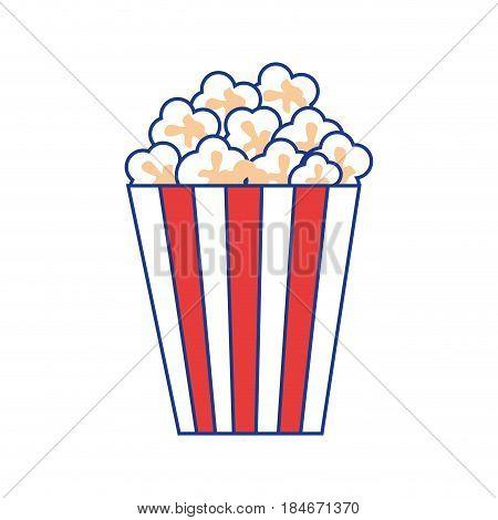 Pop corn snack icon vector illustration graphic design