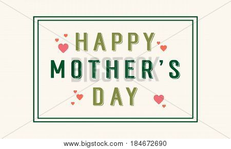 Vector art background mother day collection stock