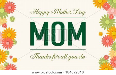 Happy mother day style vector illustration collection stock