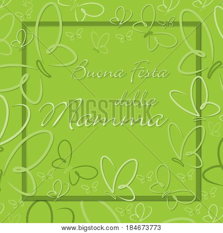 Italian Butterfly Frame Mother's Day Card In Format.