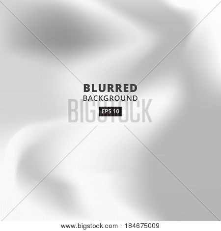 Blurred abstract gradient background for web presentations and prints. Blur silver image abstraction in gray color vector wallpaper