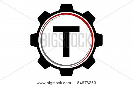 This image describe about Gear Solution Logo Letter T