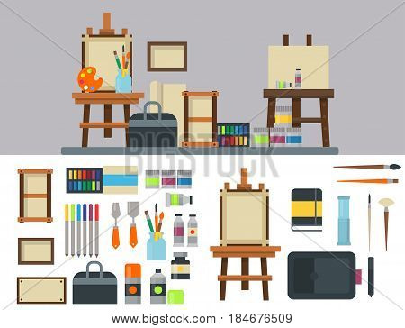Painting Art Tools Palette Icon Vector Photo Bigstock