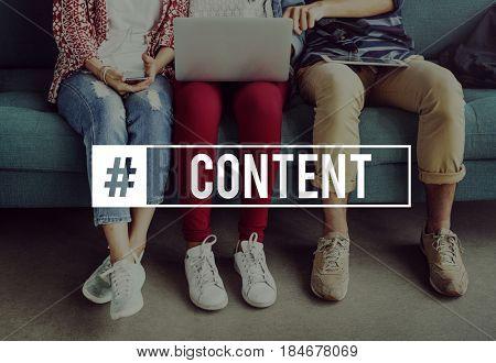 Communication Content Upload Hashtag Online