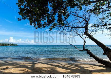 The beautiful beach in kho Mak Eastern Thailand.