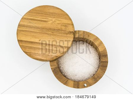 Salt In The Shaker On A White Background