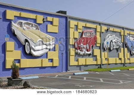 MIAMI, FL, USA - MAY 3, 2017: Stock photo of the Miami Auto Museum at the Dezer Collection of automobiles and related memorabilia