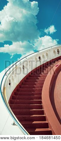 Stairway leading up to sky