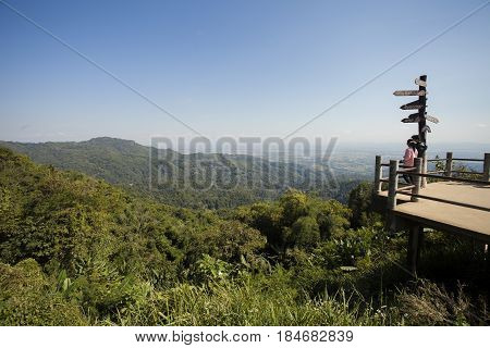 Landscape of mountain View Point of Doi Tung,Chiang Mai,Thailand.
