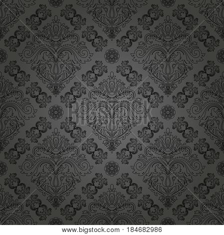 Seamless classic dark pattern. Traditional orient ornament