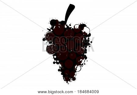 Spill the Wine.A bunch of grapes..Red wine drops.Wine background vector.Alcohol vector background..Template for drink card.