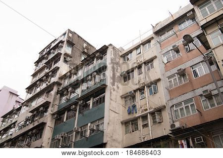 Residential District In Kowloon City,hong Kong