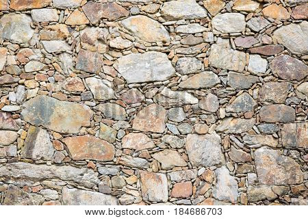 Natural stone wall in Portugal