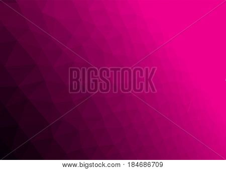 Abstract magenta color background with poligonal elements