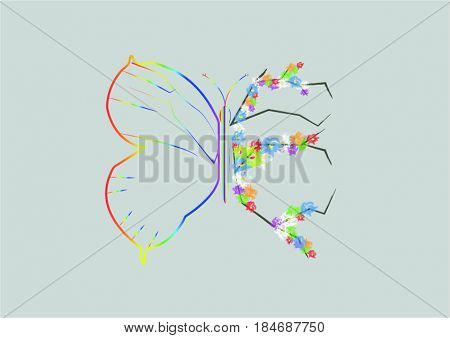 Beautiful butterfly different side wing means different meaning to encourage people do not fear failing.