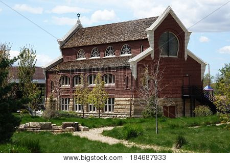 Ahavath Beth Israel Jewish Synagogue has been a landmark in Boise, Idaho since 1896, featuring Romanesque and Moorish-Revival architecture.