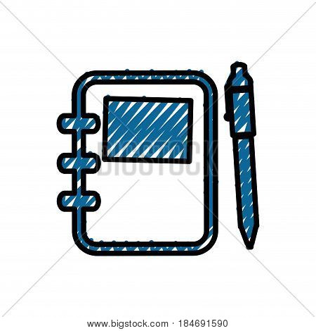 Adress book with pen icon vector illustration graphic design
