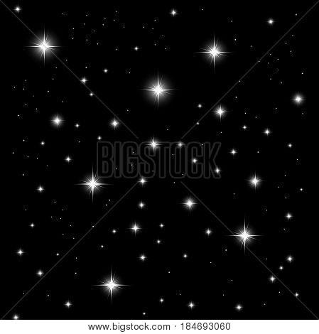 starlight on black background. Fully editable Illustration vector