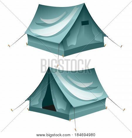 Cartoon tent set isolated. sports tourism nature. Tents camping.