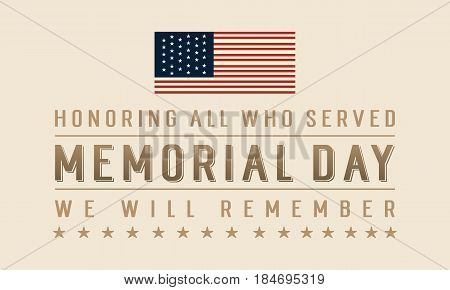 Memorial day illustration vector art banner collection