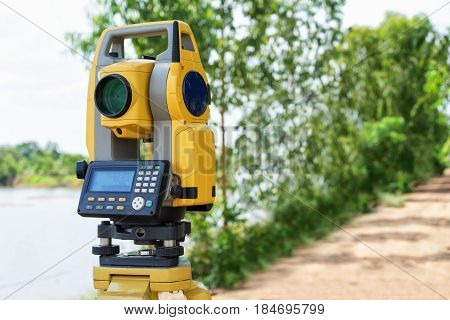 Total Station Or Tst (total Station Theodolite) Is An Electronic/optical Instrument Used In Modern S