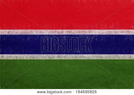 Flag Of The Gambia Grunge.